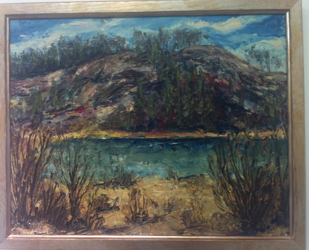 2. Olja, Landskap 2, 1933, signerad, 9100 kr