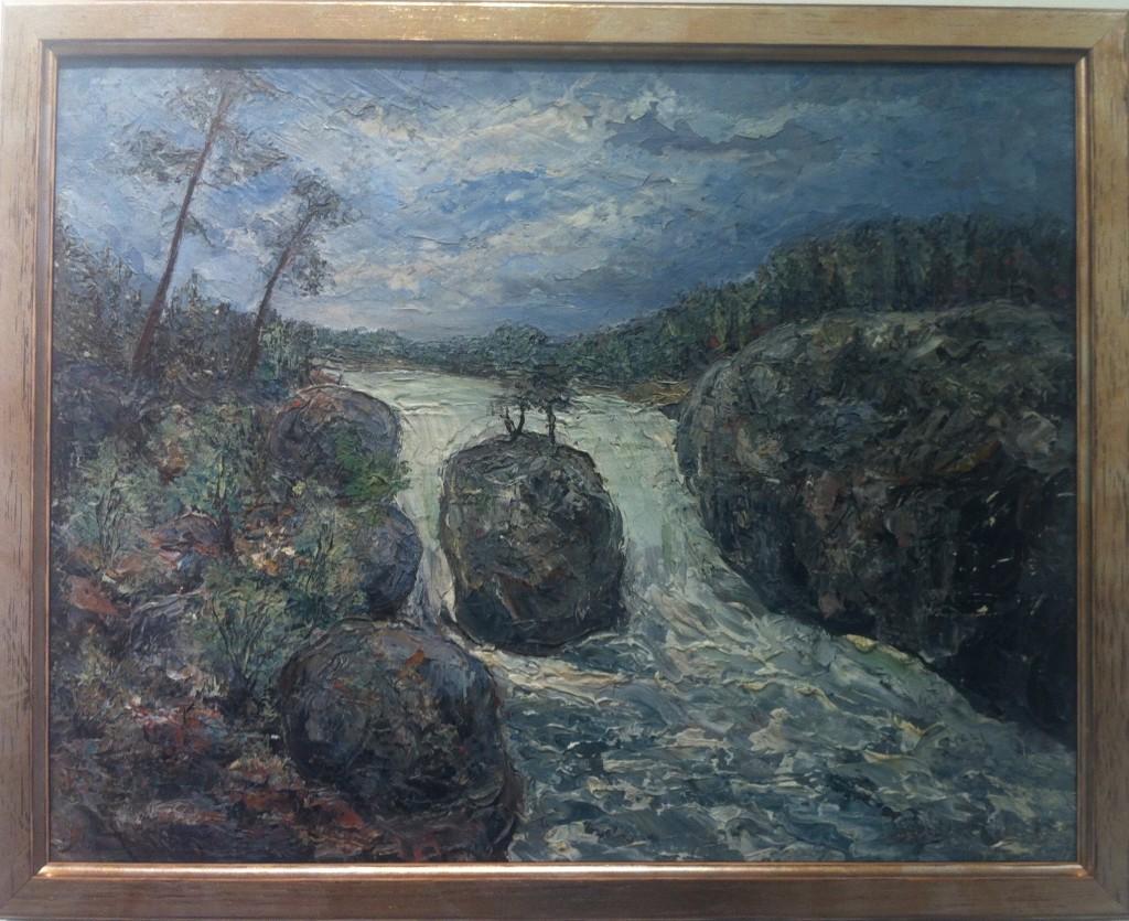 3. Olja, Vattenfall, 1930, signerad, 9100 kr