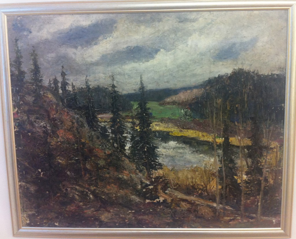 14. Olja, signerad 1931, Landskap 3, 9100 kr