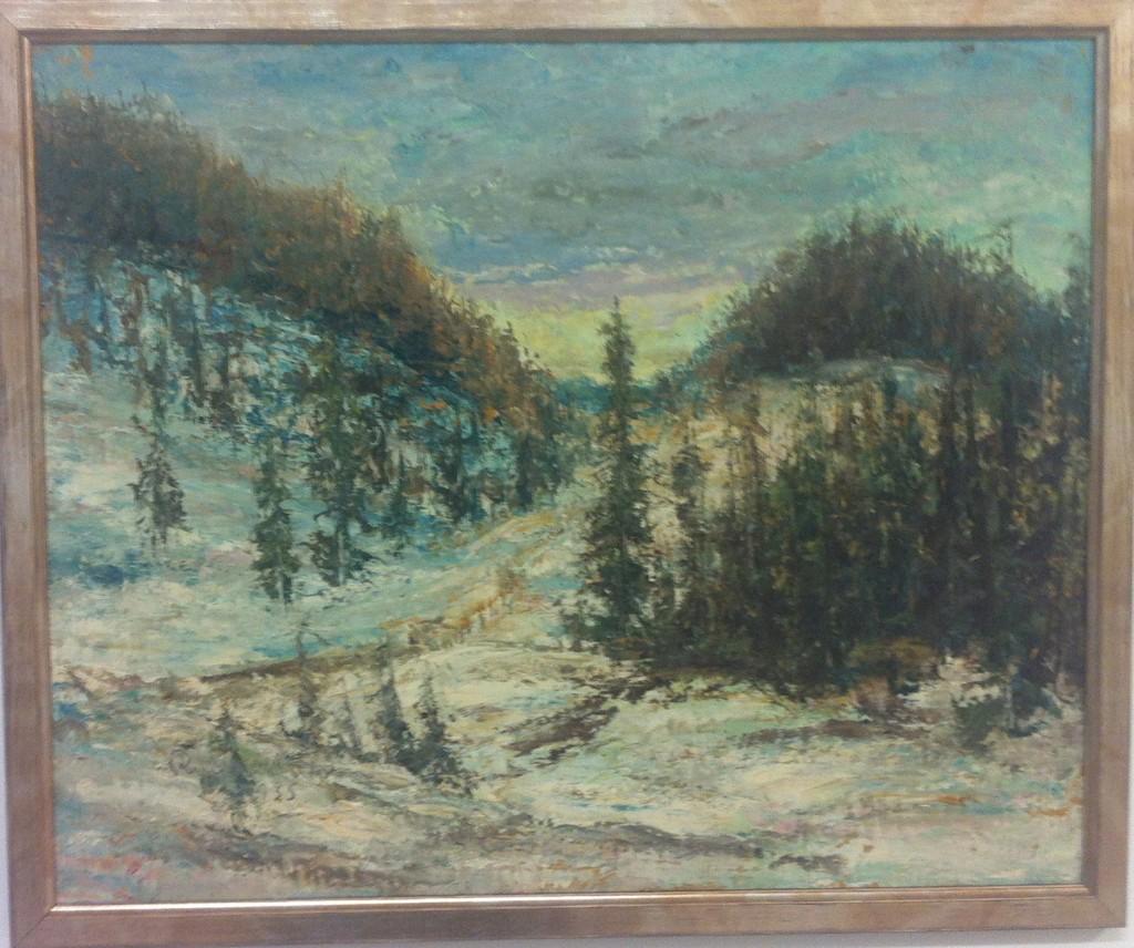 18. Snölandskap, signerad 1935, 9100 kr