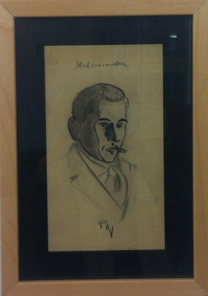 """22. """"Medmänniska"""", blyerts i passepartout under glas, 6500 kr"""